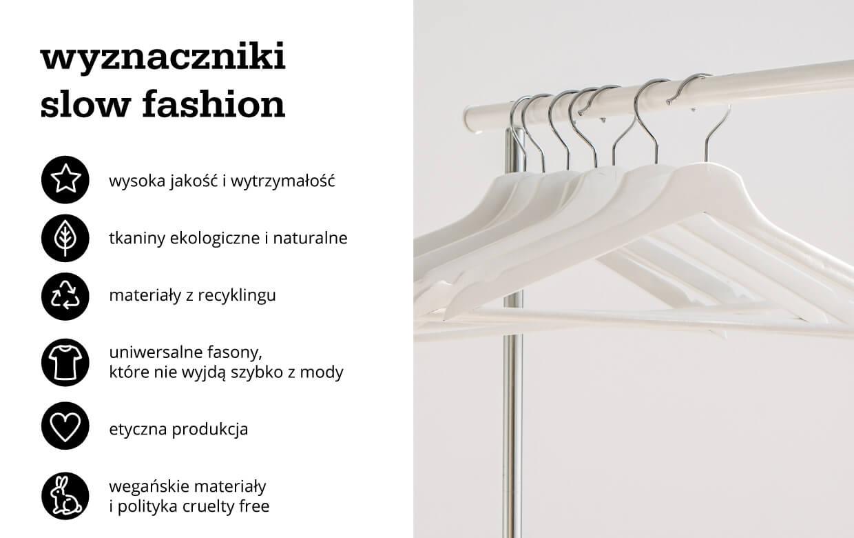Wyznaczniki slow fashion - infografika